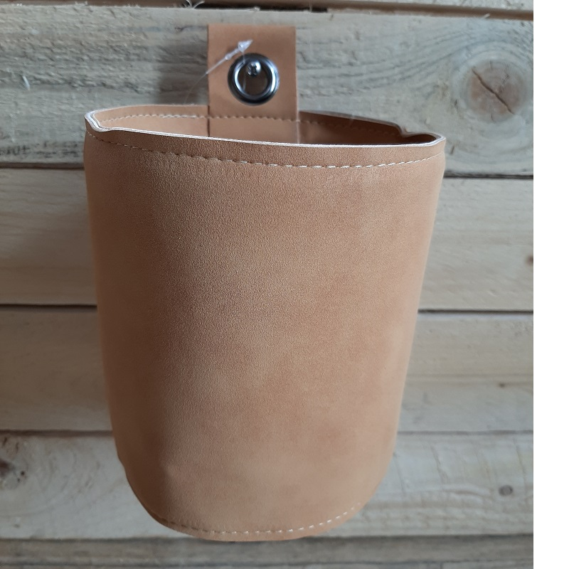 Wandhangpot Koen a2 leatherlook amber/groen