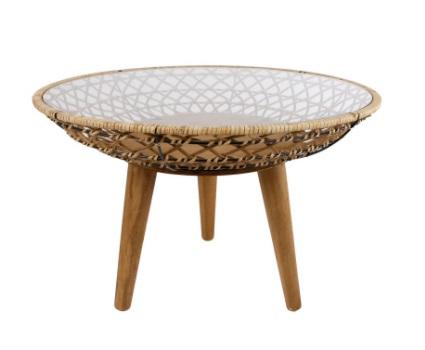 Ronde tafel naturel riet 58x58x62 cm
