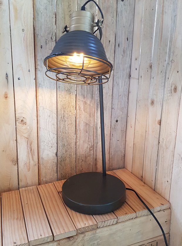 Bureaulamp metaal 22x25x61 cm