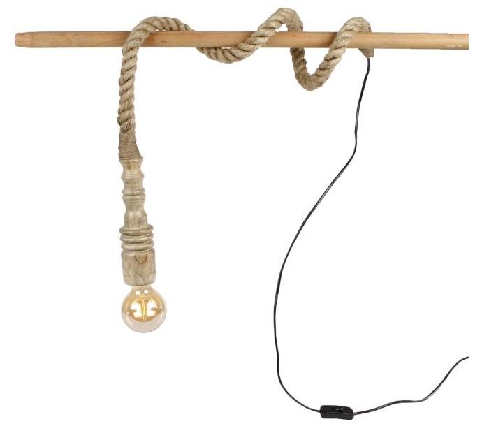 Fitting aan touw Peter naturel 10x10x300cm