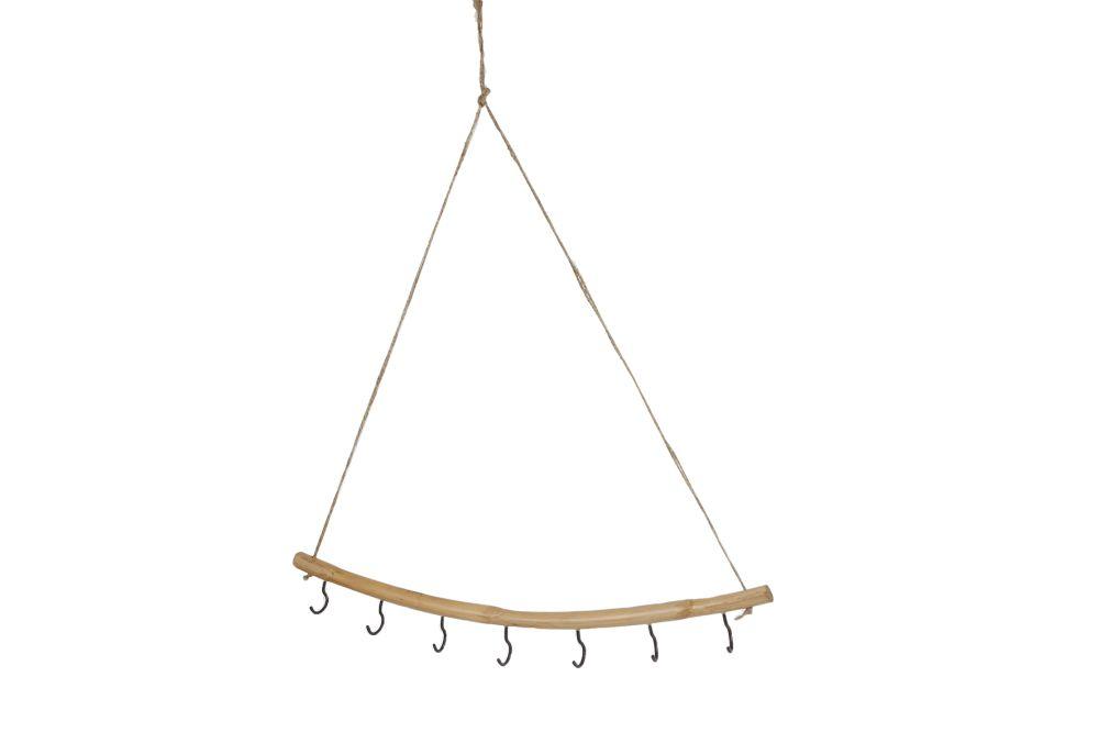 Wandhanger Cecilia naturel bamboe 9 haken