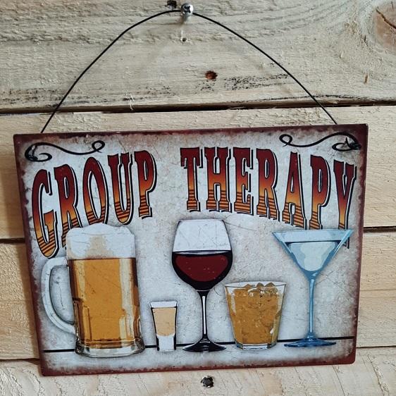 Wandversiering Group Therapy metaal